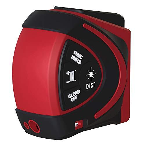 KKmoon Telemetro laser Digitale Telemetro Laser a Infrarossi 2 in 1 5m Metro a Nastro Misuratore Laser da 30 m con Display LCD