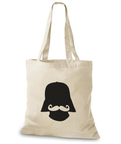 StyloBags Jutebeutel / Tasche Darth Moustache Natur