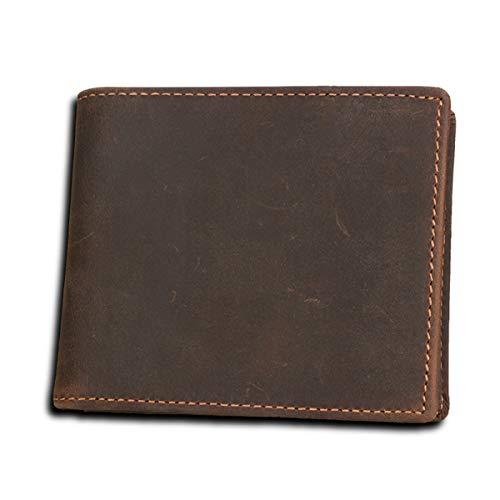 Herrenportemonnaie kurz schwarz 9.7cm * 11.3cm * 3cmRobustes doppeltes Falten - Visitenkartenhalter - Münztasche - Box usw. für mehrere Zwecke -