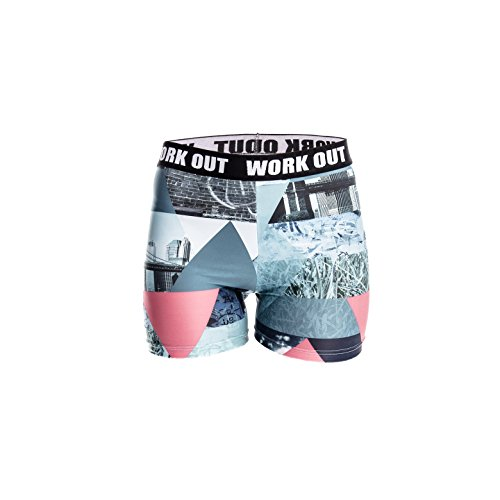 Fringoo - Legging de sport - Femme Multicolore Bigarré Taille Unique GRAFFITI shorts