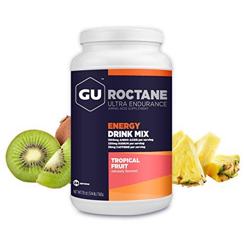 GU Roctane Energy Drink Mix 24 Serving Canister Tropical Fruit Ultra Endurance