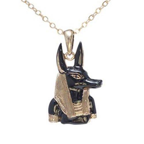 Ciondolo a forma di sarcofago di Dio Anubi, con collana EK047