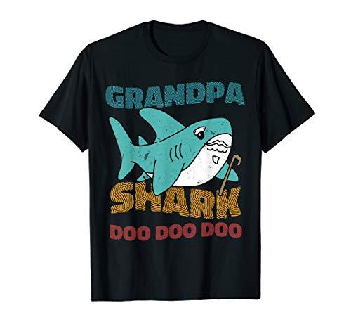 Herren Geburtstag des Großvater-Haifisch-Vatertags Weihnachten T-Shirt