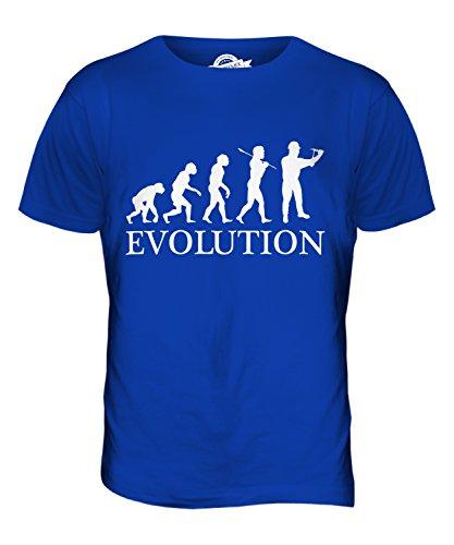 CandyMix Bauarbeiter Evolution Des Menschen Herren T Shirt Königsblau
