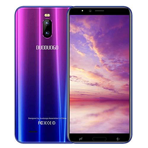Telephone Portable debloqué 4G 5.99 Pouces 2Go RAM 16Go ROM 4800mAh Quad-Core Dual SIM 4G Face ID 8MP + 5MP Caméras Smartphone Pas Cher 4G (Purple)