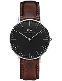 Daniel Wellington Classic Damen-Armbanduhr Analog Quarz Leder - DW00100143