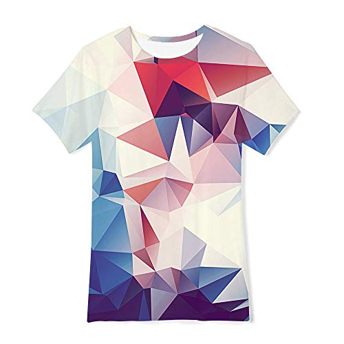 a497e0a5b RAISEVERN Boys Girls T Shirts Verano 3D Crazy Pattern Impreso de Manga Corta  Hawaii Graphic tee Tops 120 niños