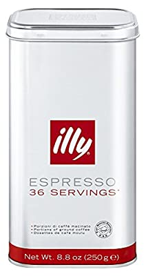 illy Tin of 36 Classic Roast Ground Coffee Servings (Pack of 1, Total 36 Pods) by EURDH