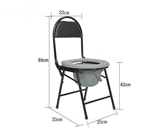 G&M Älterer Mann sitzt in einem Stuhl Falten Toilette ältere Person Mutterschaft Sitz Stuhl Stuhl WC Sitz , 1