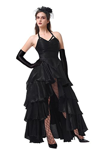 Damen Gothic Steampunk Kleid Velvet Partei Prom Kostüm EU (Velvet Kleid Kostüme Gothic)