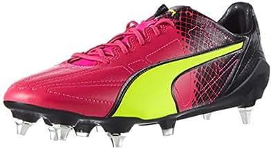 Puma Evospeed SL II Tricks Mix SG, Herren Fußballschuhe, Pink (Pink glo-Safety Yellow-Black 01),44.5 EU