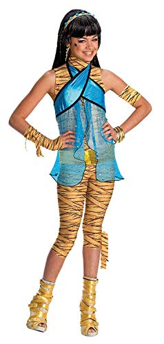 Brandsseller Monster High Cleo de Nile Kinderkostüm Mädchenkostüm Karneval Fasching - Größe: M (Monster Kostüm High Skelita)