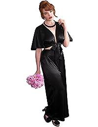 What Katie Did Pyjamas 1930s Black Satin Lounging