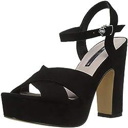 XTI 32040, Zapatos con Tira de Tobillo para Mujer, Negro, 37 EU