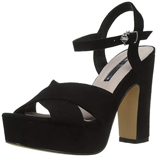 XTI 32040, Zapatos Tira Tobillo Mujer, Negro, 40 EU