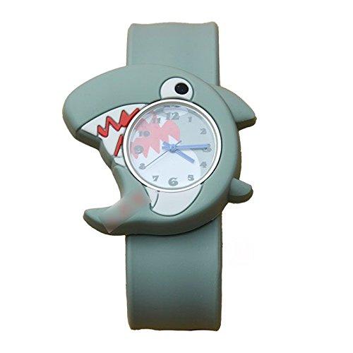 MMRM 3D Animal Mar unisex Niños /bebe reloj de pulsera de silicona reloj de cuarzo Tiburón