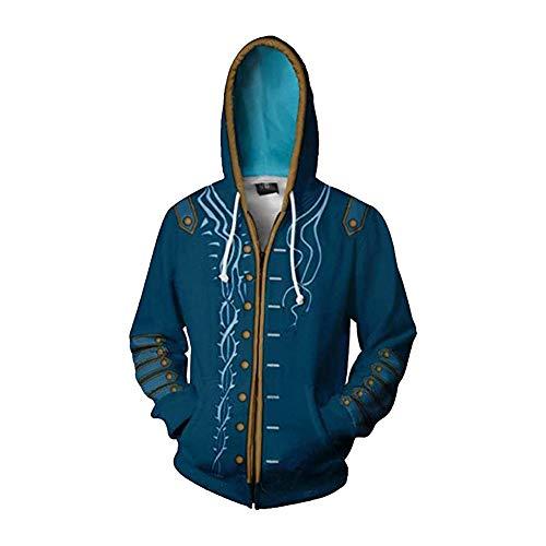 Zhangjianwangluokeji Dante Kostüm 3D Print Hoodies Zipper Jacket Adult Cosplay (Stil 2, XXL)