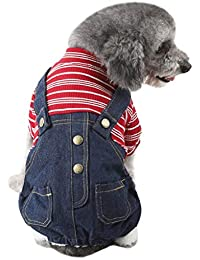 Geilisungren Ropa para Mascotas Perros pequeños, Verano Camiseta Chaleco, Pantalones Vaqueros para Cachorros,