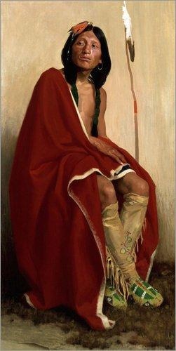 Kostüm Traditionellen Staaten Vereinigten - Posterlounge Holzbild 60 x 120 cm: Elk Foot des Taos Tribe von Eanger Irving Couse