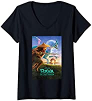 Femme Disney Raya and the Last Dragon Movie Poster T-Shirt avec Col en V