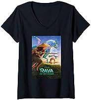 Femme Disney Raya and the Last Dragon Movie Poster T-Shirt avec Col en V