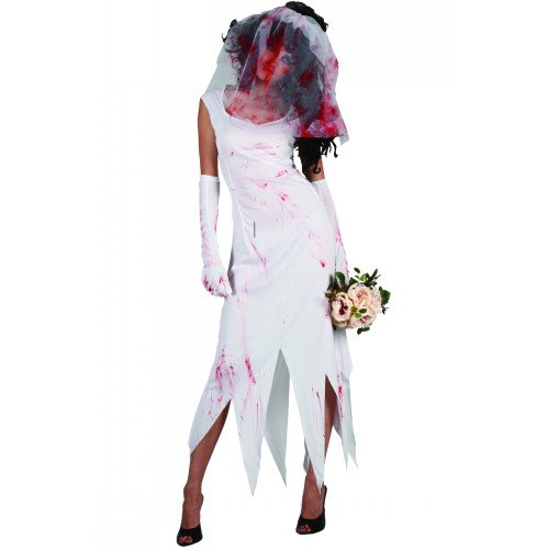 (XS) Damen Zombie Braut Halloween Kostüm für Fancy Dress Damen (Kostüme Braut Womens Zombie)