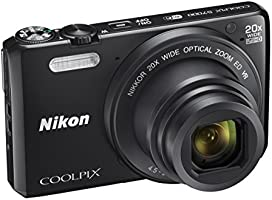 """NikonCoolpixS7000 Appareil photo numérique compact, 16mégapixels, zoom 20x, 6400 ISO, LCD 7,62cm (3""""), Full HD, Noir"""