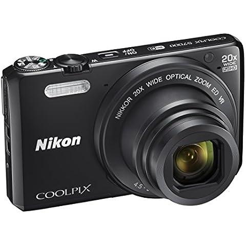 Cámara de fotos digital a Nikon Coolpix S7000 (compacto, 16 Mpx, 20-aumentos Zoom, 6400 ISO, 7,6 cm (7.62 cm) LCD-Monitor, Full HD) negro