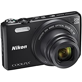 "Nikon Coolpix S7000 Fotocamera Digitale Compatta, 16 Megapixel, Zoom 20X, 6400 ISO, LCD 3"", Full HD, Nero [Nital Card: 4 Anni di Garanzia]"