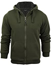 7a13f73769 Mens Hoodie Sweatshirt Jumper Brave Soul  Zone  Hooded Sherpa Lined