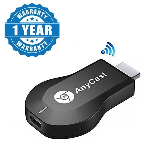 Captcha Anycast DLNA Airplay WiFi Display Miracast TV Dongle HDMI Multi-display 1080P Receiver AirMirror Mini Android TV Stick Suitable with all Android or Iphone Devices (1 Year Warranty, Color May Vary)  available at amazon for Rs.1049