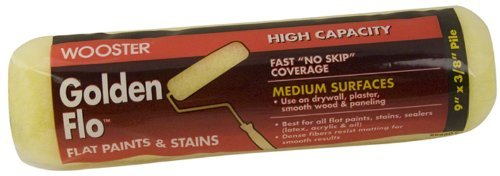 Wooster Brush RR660-9 Golden Flo Roller Cover 3/8-Inch Nap, 9-Inch by Wooster Brush - Nap 9