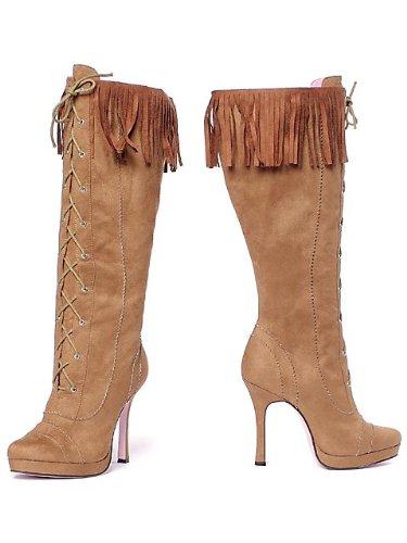 Leg Avenue 5020 - Cheyenne 4.5 Zoll Microfiber Kniehohe Stiefel, Größe 8, (Cheyenne Stiefel)