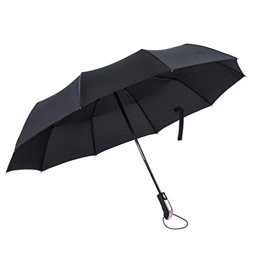 Paraguas Plegable Automático, ICOCO Paraguas Grande con Revestimiento...