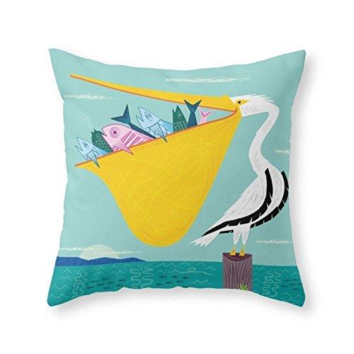 Doormat bag The Greedy Pelican Throw Pillow Indoor Cover 18