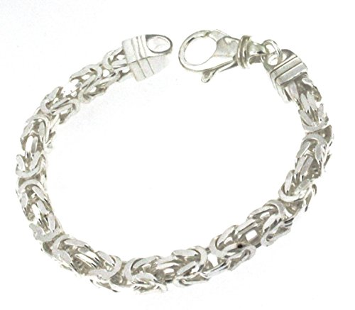 Königsarmband 925 Silber 6 mm 23 cm Silber-Armband Damen Herren-Armband Herren-Schmuck ab Fabrik tendenze Italy D-BZ6-23v (Silber Italienische Herren-armband)