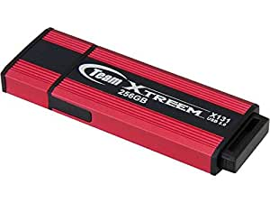 Team Group X131 256GB 256Go USB 3.0 (3.1 Gen 1) Capacity Rouge lecteur USB flash - Lecteurs USB flash (256 Go, USB 3.0 (3.1 Gen 1), USB Type-A connector, Casquette, 24 g, Rouge)