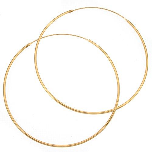 Sterling Silber 70mm x 1,5mm Reifen Ohrringe mit -