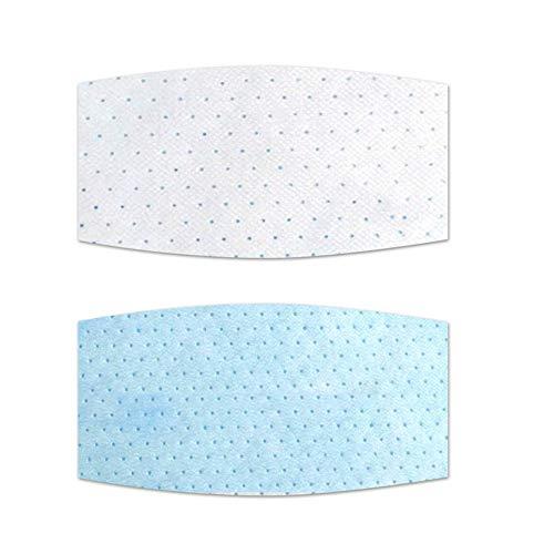 Deniseonuk Filtro de almohadilla Interior desechable antivaho a prueba de polvo Con máscara cuadrada Redonda, DOS piezas en un paquete Blanco (12 piezas)