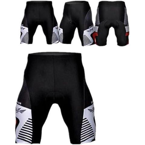 MaMaison007 Ciclismo bicicleta de deporte ropa deportiva pantalones acolchados pantalones cortos