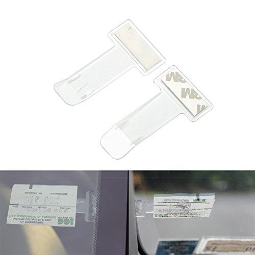 Distinct® 5pcs Auto-Träger-Parken-Karten-Erlaubnis-Halter-Klipp-Aufkleber-Windschutzscheibe-Fenster-Befestigungs-Aufkleber (Mdc-aufkleber)