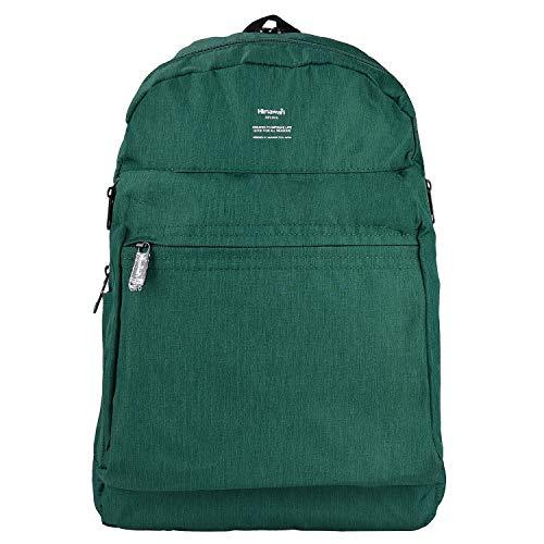 Zaino Grande Aperto Laptop Backpack 15.6' Uomo Donna Antifurto Daypacks Zaino impermeabile per Scuola Business Viaggio Università 4- Verde scuro