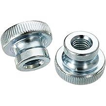 Akozon Gewindeeinsatz Einbettung Muttern R/ändelmutter 120pcs M8 Messing Zylinder ger/ändelt Gewinde runden Einsatz eingebetteten Muttern