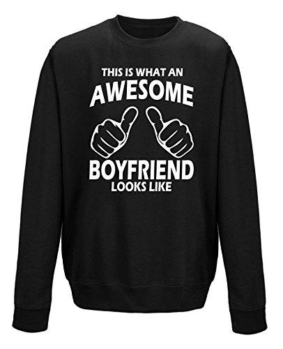 Dies ist, was ein Awesome Freund sieht aus wie Unisex Sweatshirt Jumper Schwarz - Schwarz