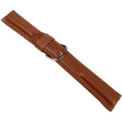 Country Ersatzband Uhrenarmband Kalbsleder Braun 20679G, Stegbreite:20mm