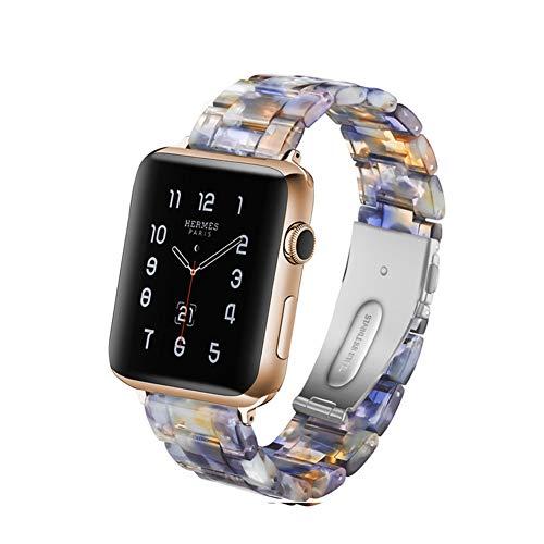 MTSBW Für Iwatch Band, Mode Harz Apple Watch Band Ersatz Erbaut In Edelstahl Schnalle Mit Link Pins Für Serie 4 3 2 1,40Mm