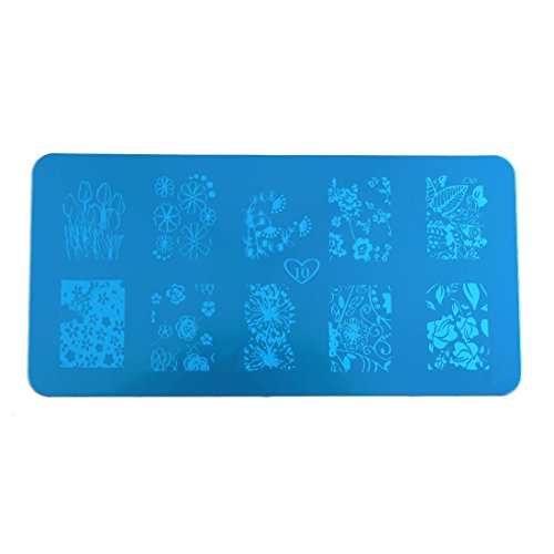 sourcing map Acier inoxydable Nail Stamping Plate Template Stamp Image Stamp Outil d'impression