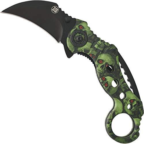 Haller Uni Zombie Dead Karambit Taschenmesser Messer, Schwarz, 0
