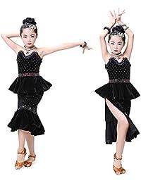 YONGMEI Costume da Ballo - Costumi di Danza Latina per Bambini Nuovo Vestito  da Ballo Latino Concorso Performance… 3bc3fe77d086
