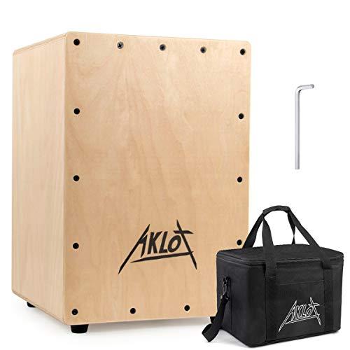 Aklot Cajones Trommel Kompaktes Akustik Jam Cajons Set Percussion Cajon Box Snare Sound mit Gig Bag Für Kinder und Erwachsene Anfänger 25 * 25 * 36 cm